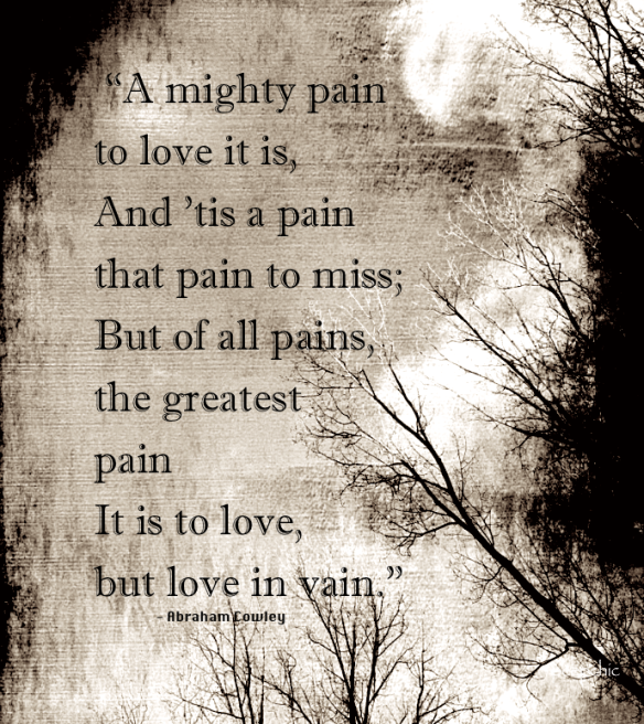a mighty pain to love it is...