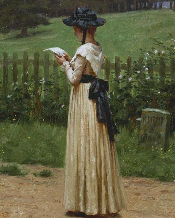 The Letter, Edmund Blair Leighton