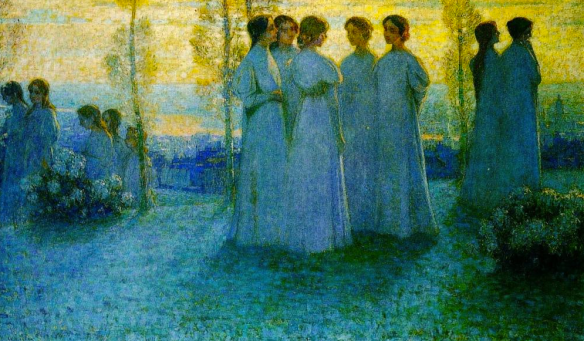 Young girls on Sunday,    Henri Le Sidaner