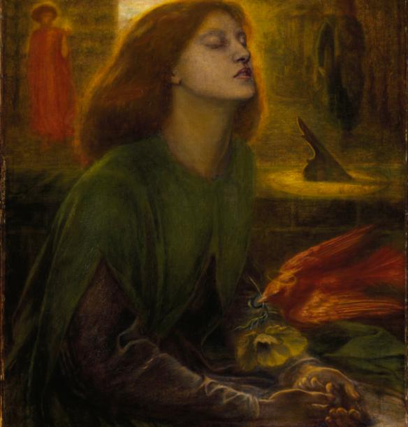 Beata Beatrix  Dante Gabriel Rossetti 1864–1870 (Dante Alighieri's  Beatrice) Portinari